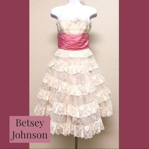 Betsey Johnson Evening lace tulle dress
